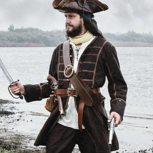 Piraten Mantel Teach, braun