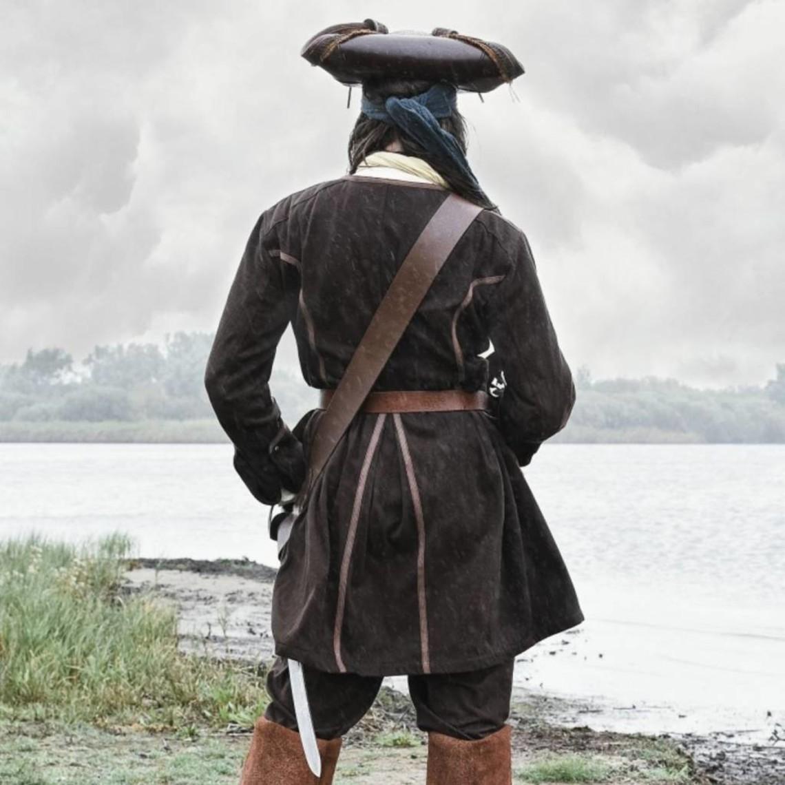 Abrigo pirata Teach, marrón