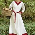 Viking kjole Helga, naturlig-rød