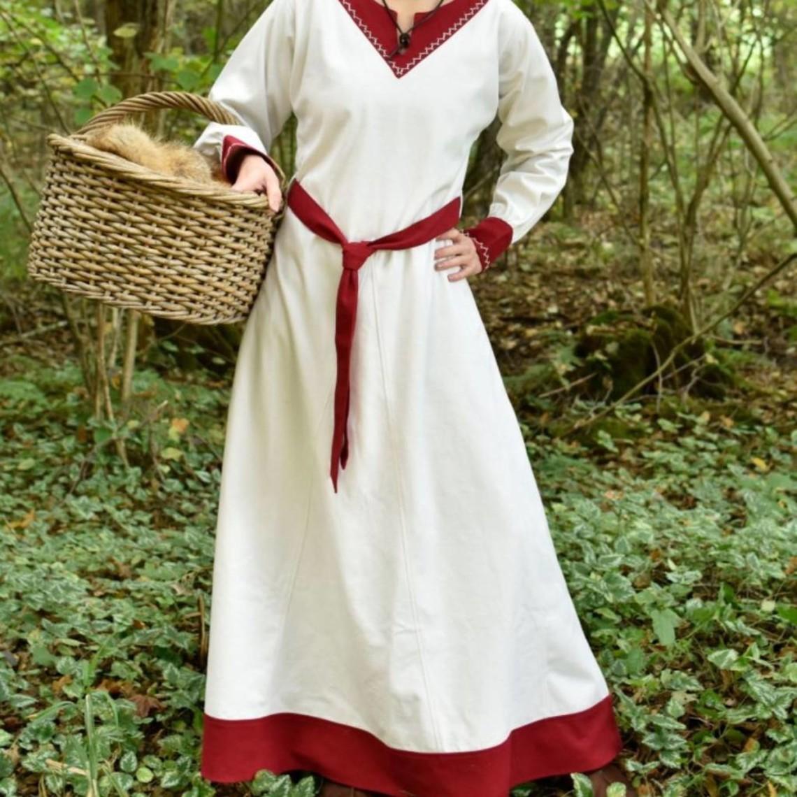 Vikingjurk Helga, naturel-rood