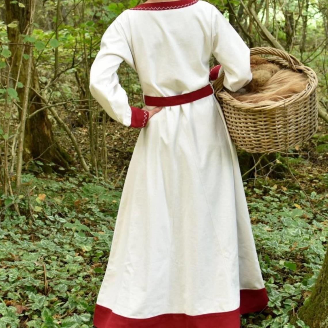 Viking klänning Helga, naturlig röda