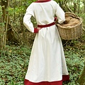 Vestido vikingo Helga, rojo natural.