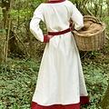 Viking Kleid Helga, natürlich rot