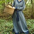 Robe Viking Helga, bleu gris-bleu