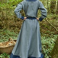 Vestido vikingo Helga, azul gris azulado
