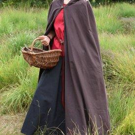 Bawełniany płaszcz Ellyn, brązowy
