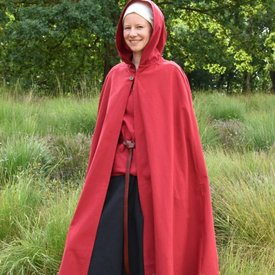 Cape en coton Ellyn, rouge