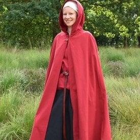 Cotton cloak Ellyn, red