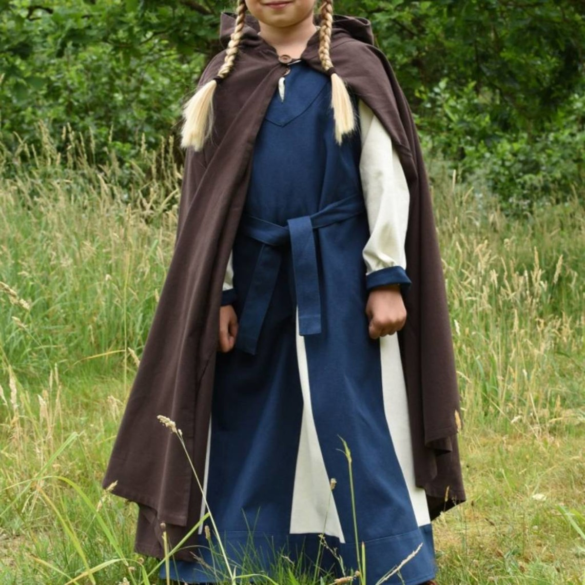 Dzieci płaszcz Artura, brązowy