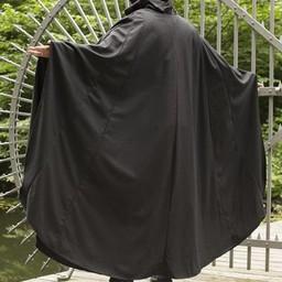Wool travelers cloak, black