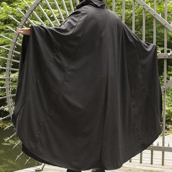 Epic Armoury Wollen reismantel zwart