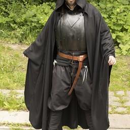Płaszcz podróżny z wełny, czarny