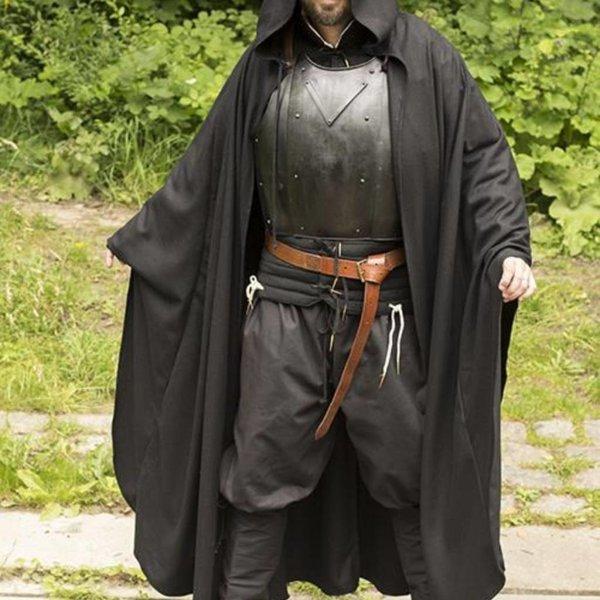 Epic Armoury Reisemantel aus Wolle, schwarz
