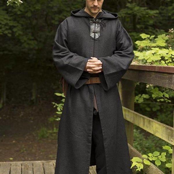 Epic Armoury Mittelalterliches Gewand Benedict, schwarz