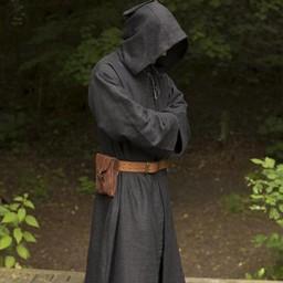 Robe médiévale Benoît, noire