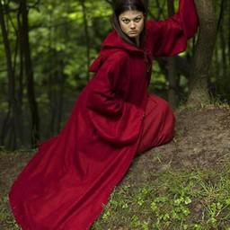 Bata medieval Benedicto, rojo