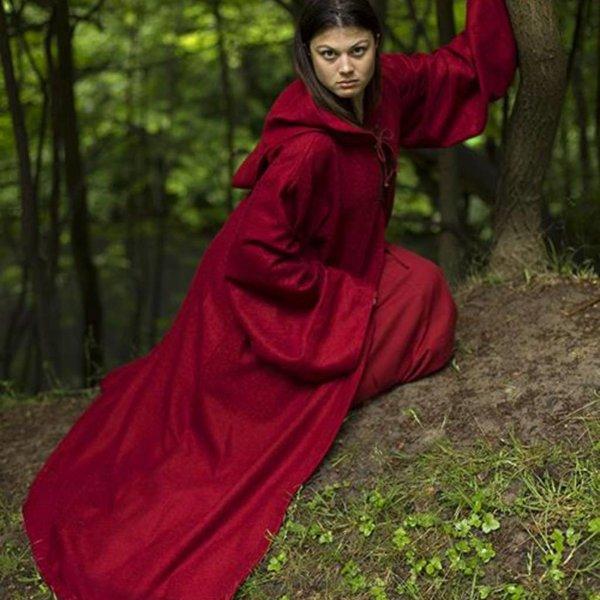 Epic Armoury Middelalderkåbe Benedict, rød
