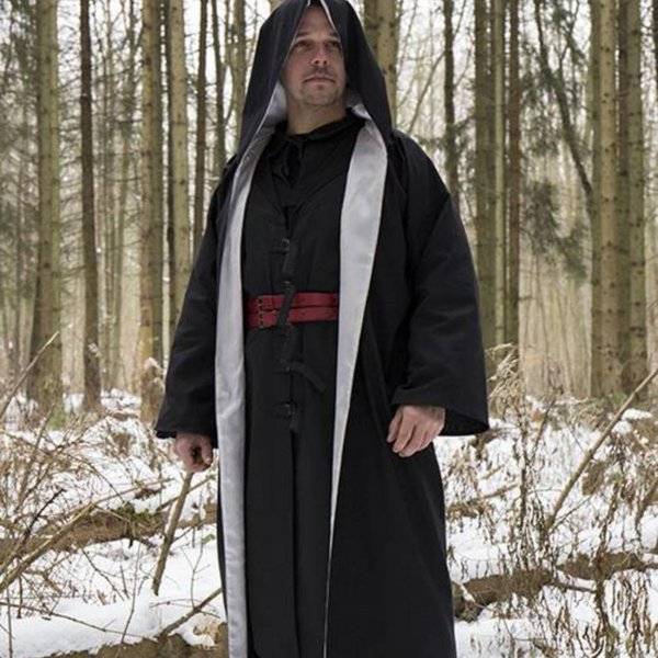 Epic Armoury Wizard robe, black-silver
