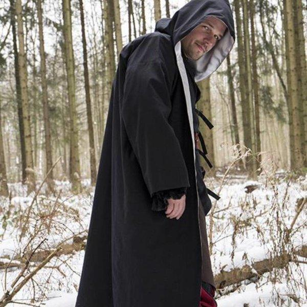 Epic Armoury Wizard dräkt, svart-silver