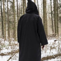 Wizard robe, black-silver