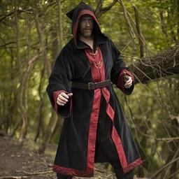 Wizard mantel Harry, svart-röd