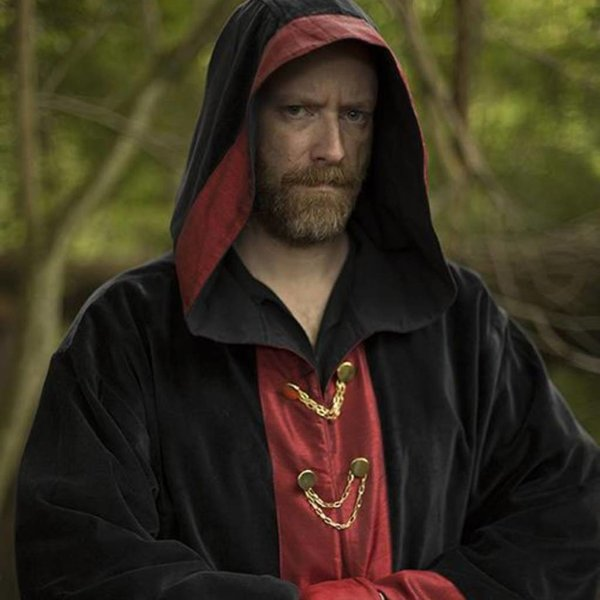 Epic Armoury Wizard robe Harry, black-red