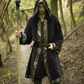 Epic Armoury Wizard Robe Cedric, schwarz-gold