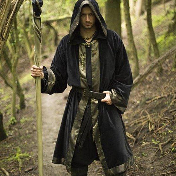 Epic Armoury Tovenaarsgewaad Carlo, zwart-goud