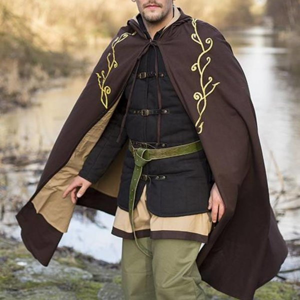 Epic Armoury Broderet kappe Terra, brun