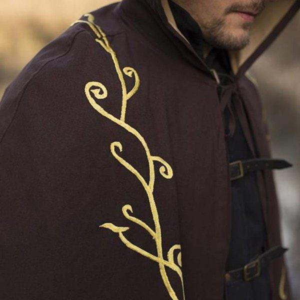 Epic Armoury Embroidered cloak Terra, brown
