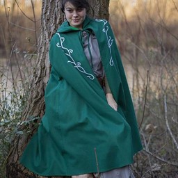Embroidered cloak Terra, green