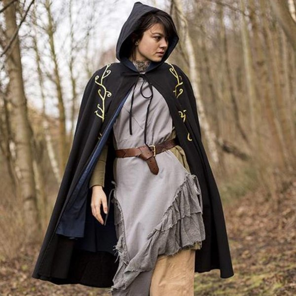 Epic Armoury Embroidered cloak Terra, black