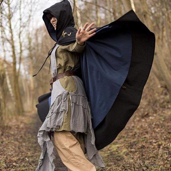 Epic Armoury Mantello ricamato Terra, nero