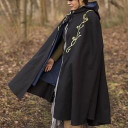 Haftowany płaszcz Terra, czarny