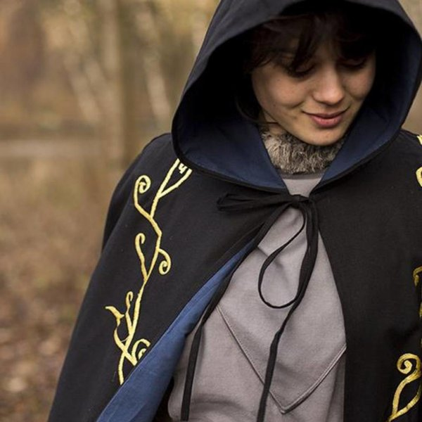 Epic Armoury Haftowany płaszcz Terra, czarny