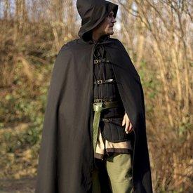 Epic Armoury Robert (temprano) capa negra medieval Robert