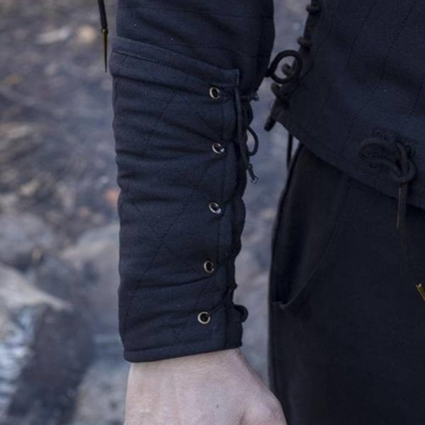 Epic Armoury Black gambeson vambraces, pair