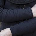 Epic Armoury Schwarz Gambeson Armschienen, Paar