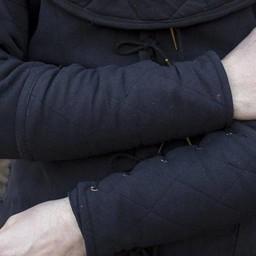 Zwarte gambeson onderarmbeschermers, paar
