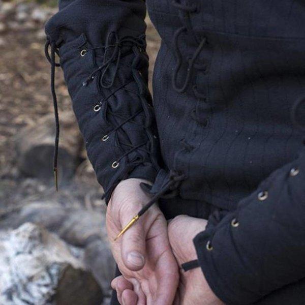 Epic Armoury Zwarte gambeson onderarmbeschermers, paar