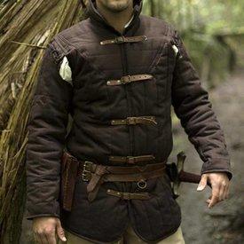 Epic Armoury Gambeson avec ceintures, marron