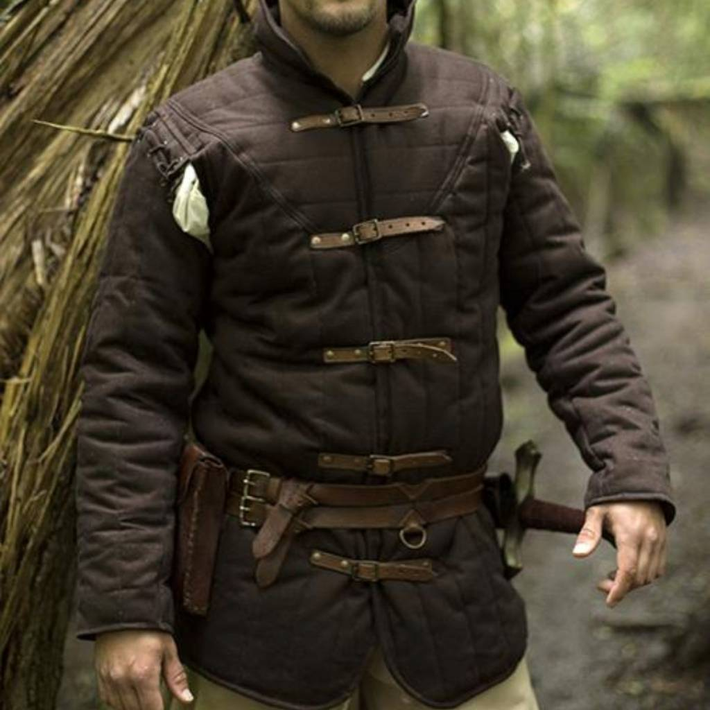 Medieval belt gambeson brown