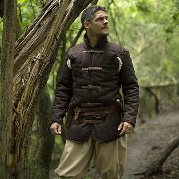 Epic Armoury Middelalder bælte slagkofte brun