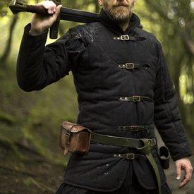 Epic Armoury Cinturón medieval gambeson negro