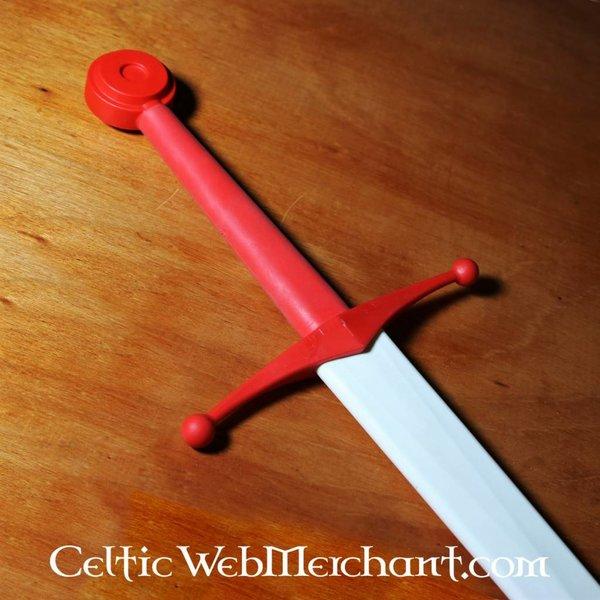 Red dragon Ronde pommel voor trainingszwaard rood