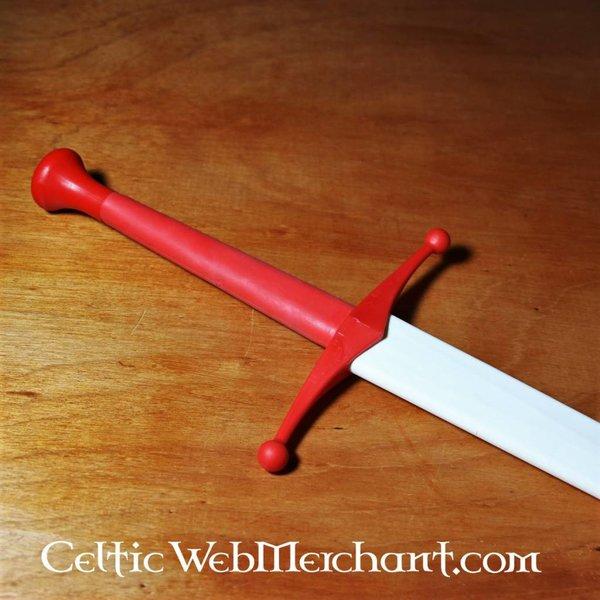Red dragon Kurkpommel voor trainingszwaarden rood