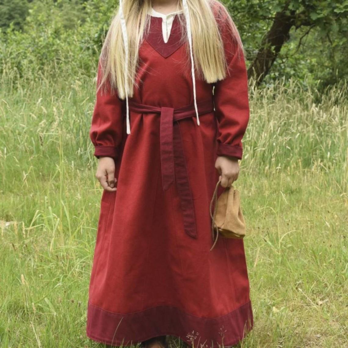 Vestido de las niñas Birka, rojo