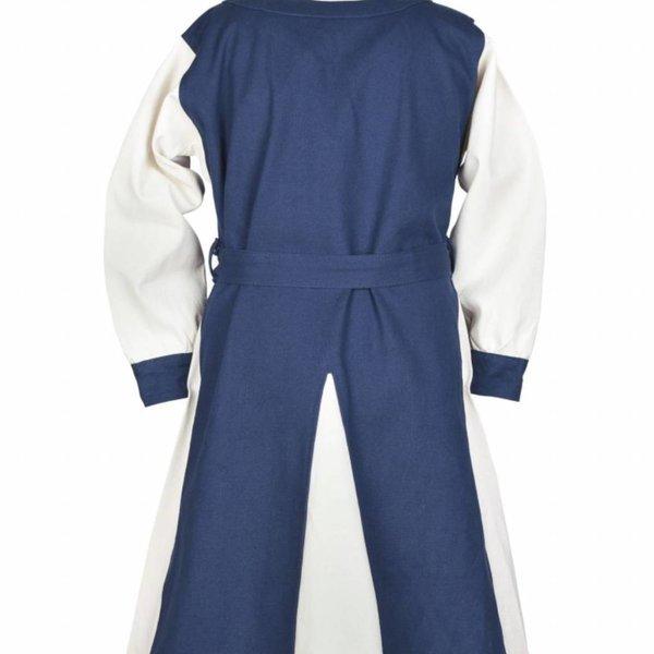 Girls dress Birka, blue-natural