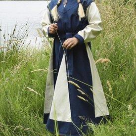 Piger dress Birka, blå-naturlig