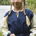 Vestido de niña Birka, azul natural
